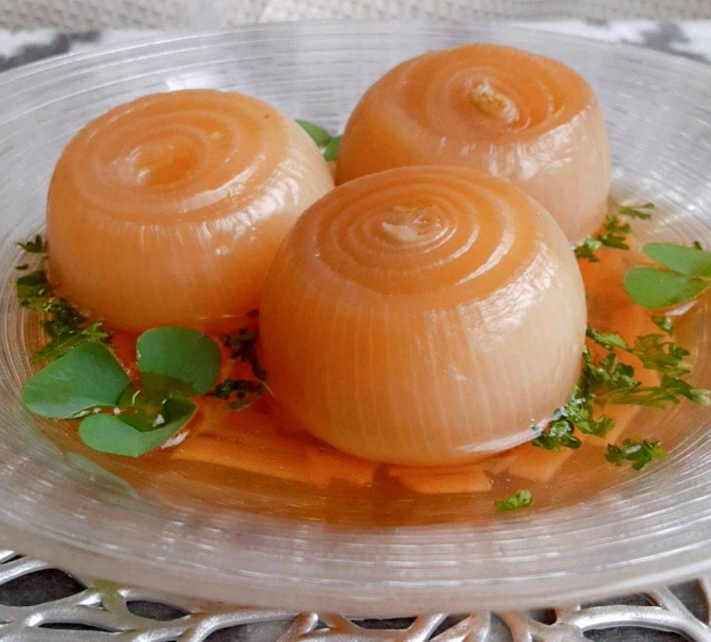 玉ねぎの昆布だしスープ写真1