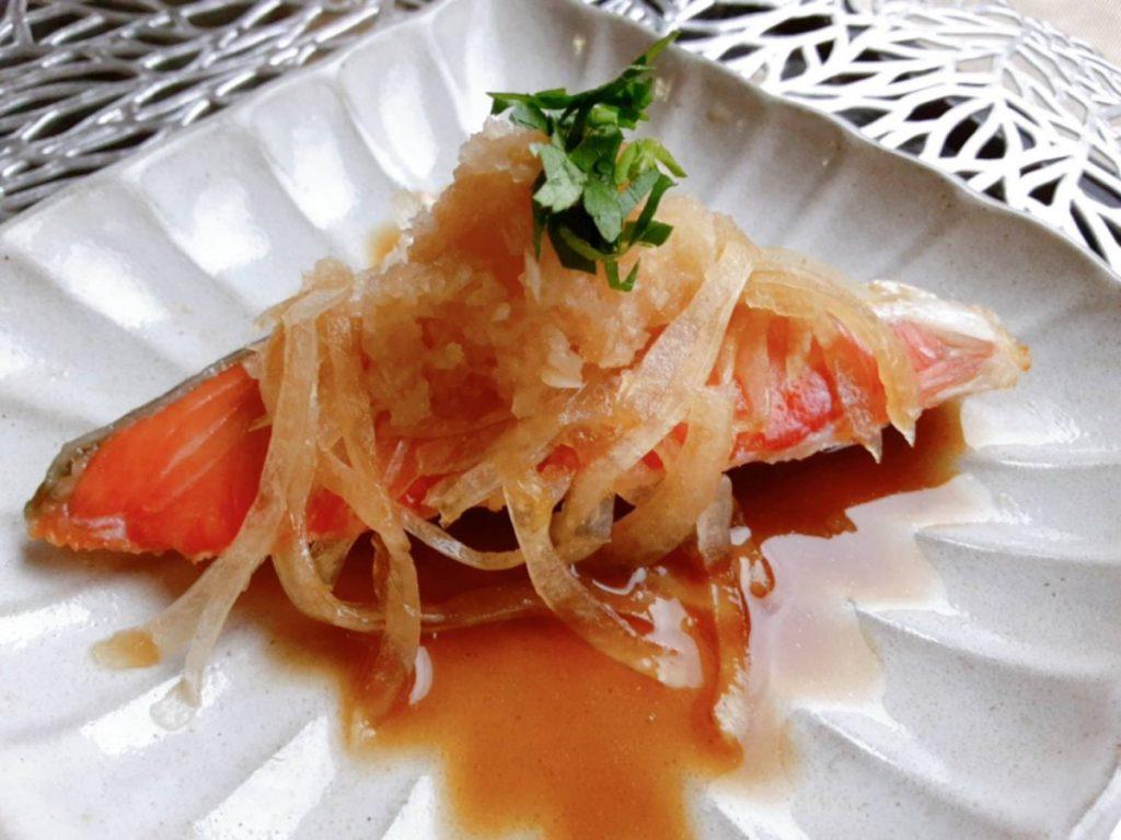 玉ねぎと大根おろしの焼鮭写真1