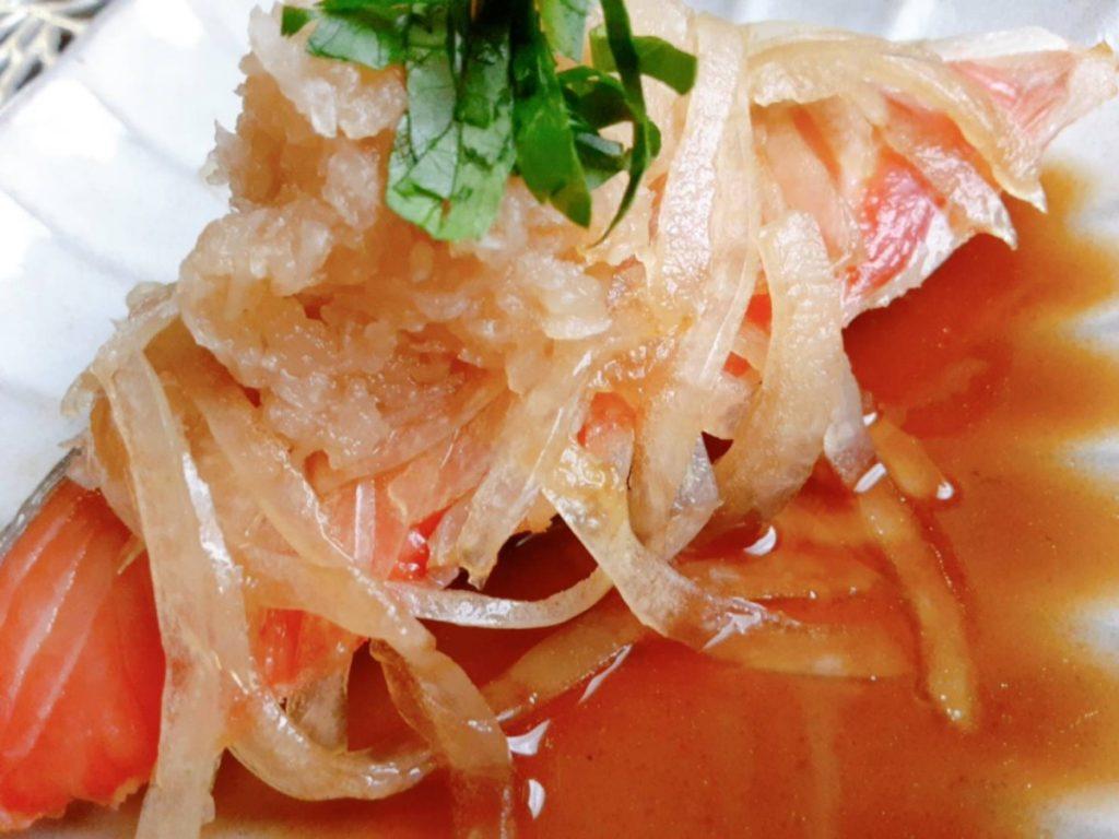 玉ねぎと大根おろしの焼鮭写真2