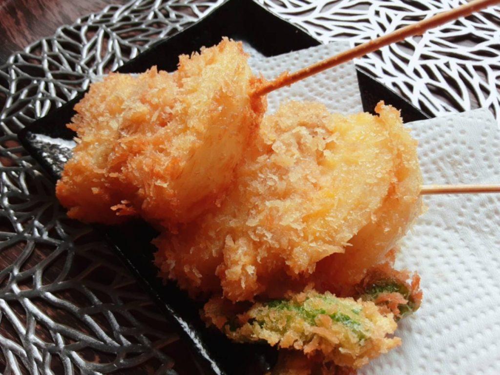 玉ねぎの串カツ(写真1)