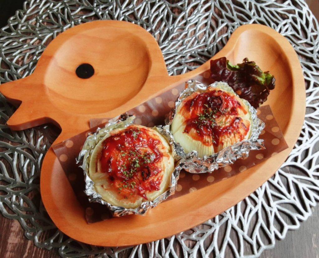 玉ねぎのミートソース焼き(写真1)