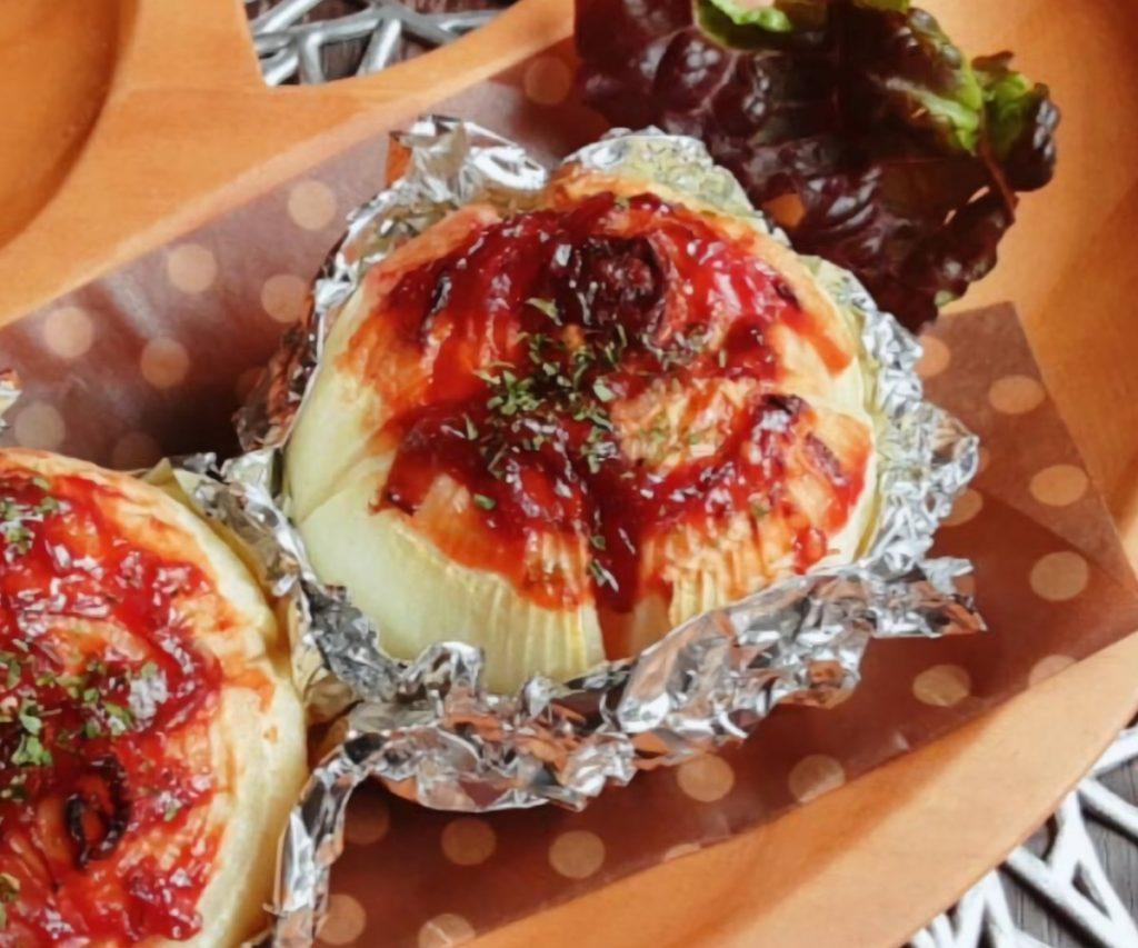 玉ねぎのミートソース焼き(写真2)